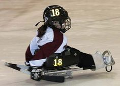 Little Girl Skating (Sled Hockey) - photos to stimulate conversation using action verbs - -  Pinned by @PediaStaff – Please Visit http://ht.ly/63sNt for all our pediatric therapy pins