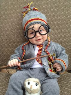 Harry Potter costume for babyu0027s first Halloween! & Harry Potter! | Pinterest | Harry potter Costumes and Babies