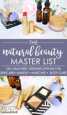 Looking for the best natural beauty products - products that are safe and non-toxic AND really work like you want them to!? The Natural Beauty Master List has over 100+ recommendations for natural skincare, makeup, haircare, and body care products. They're all my tried-and-true favorites + natural beauty cult classics.