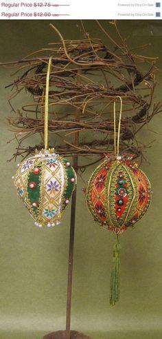 vintage handmade christmas ornaments   ... SALE VINTAGE Handmade Christmas Ornaments ...   Vintage Christmas