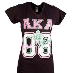 AKA 1908 Pink & Green Fitted T-Shirt
