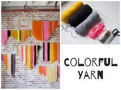 Yarn is no longer just for knitting. | 32 Unbelievably Cheap And Beautiful DIY Photo Backdrops