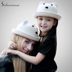 Autumn Winter Ear Hat Australian Wool hat Parent-child Mother and Child Fashion Cute Girl Cloche Hat Great, huh? #shop #beauty #Woman's fashion #Products #Hat
