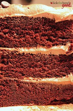 Chocolate layered cake with mocha cream cheese frosting. Who wants to make this for my birthday?