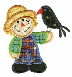 Scarecrow 1 Applique - 2 Sizes! | Fall | Machine Embroidery Designs | SWAKembroidery.com Designs by Juju