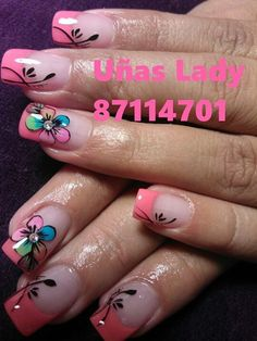 Uñas Lady                                                                                                                                                                                 Más Get Nails, Fancy Nails, How To Do Nails, Fabulous Nails, Gorgeous Nails, Pretty Nails, Nail Picking, Minimalist Nails, French Tip Nails