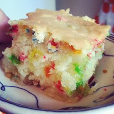 Confetti Coconut Cake! with mochiko--Japanese rice flour....wheat, gluten and dairy free! ya!