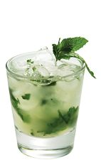 The Azul Mojito is a tequila-based variation of the classic Mojito cocktail recipe. Made from Lunazul blanco tequila, mint, lime, simple syrup and club soda, and served over crushed ice in a rocks glass.