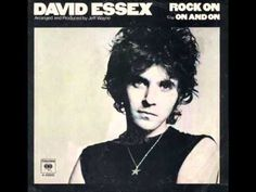 """David Essex """"Rock On"""": First time I heard this was at Flirty Girl Fitness while covering a pole dancing class for Chicago Defender http://pinterest.com/pin/425027283554264149/ . It was a SEXY song. The whole time I was writing notes I was bobbing my head."""
