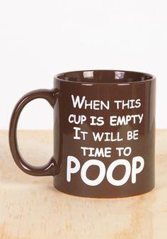 Time To Poop Coffee Mug