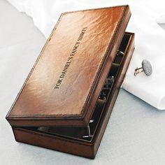 leather cufflink box by ginger rose | notonthehighstree... . . . . . der Blog für den Gentleman - www.thegentlemanclub.de/blog