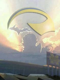 We are #Michigan. Probably what the sky looked like when Bo reached the pearly gates!