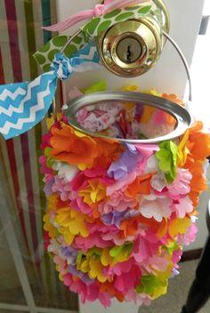 Tissue Paper Flower May Day Basket Craft
