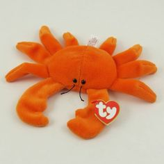 Digger the orange crab 3rd gen hang tag 1st gen tush tag Ty Beanie Babies  MWMT 86c34c477be9