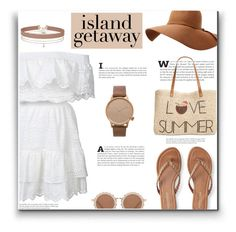 """Chic Island Getaway"" by lovine ❤ liked on Polyvore featuring LoveShackFancy, Aéropostale, Style & Co., Miss Selfridge, Komono, House of Holland and islandgetaway"