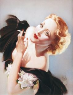 Marlene Dietrich - c. 1934 - Pin-Up Art by Alberto Vargas