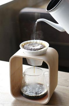 pour-over coffee station with glass carafe - Coffee Maker - Ideas of Coffee Make. - pour-over coffee station with glass carafe – Coffee Maker – Ideas of Coffee Maker - Coffee Station Kitchen, Home Coffee Stations, Coffee Cafe, Coffee Drinks, Coffee Gifts, Drip Coffee, Coffee Barista, Coffee Shops, Cup Of Coffee