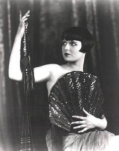 rather daring shot of the lovely Louise Brooks