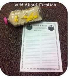 Wild About Firsties!: Search results for shake and read sight word center