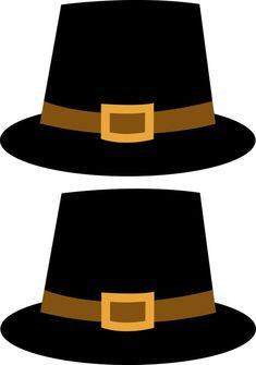 Pilgrim Hat template   Coloring   Pinterest   Hat template ...