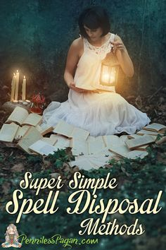 Super Simple Spell Disposal Methods from PennilessPagan.com #Pagan #Wiccan…