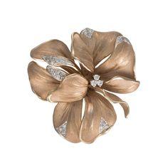 Annamaria Cammilli 18K Two Tone Gold & Diamond Iris Pin (=)