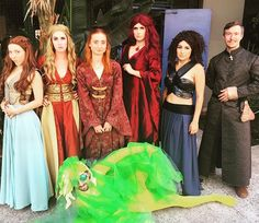 Pin for Later: 68 DIY Game of Thrones Costumes Perfect For Anyone Who Loves the Old Gods and the New Margaery Tyrell, Cersei Lannister, Sansa Stark, Lady Melisandre, Missandei, and Lord Baelish