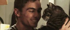 Pin for Later: Isn't It Time We Appreciate Dave Franco For the Sexy Beast He Is? Oh My God, He's Snuggling With a Cat Source: Funny or Die