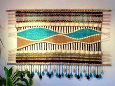 Telaresytapices Weaving Art, Weaving Patterns, Loom Weaving, Tapestry Weaving, Wall Tapestry, Hand Weaving, Weaving Process, Weaving Techniques, Yarn Shop