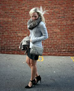The Casual Classic: fur accents @Express @French Connection @Banana Republic @Rebecca Minkoff