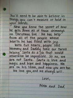 "2nd part of Santa letter. Perfect for when children find out who ""is"" santa"