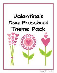 Valentine's Day Preschool Theme Printables Pack