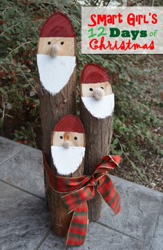 DIY Santa Logs…these are the BEST Homemade Christmas Decorations & Craft ideas! 25 Perfect Home Decor Ideas Everyone Should Have – DIY Santa Logs…these are the BEST Homemade Christmas Decorations & Craft ideas! Christmas Yard, Christmas Projects, Simple Christmas, Christmas Holidays, Danish Christmas, Cheap Christmas, Rustic Christmas, Handmade Christmas, Magical Christmas