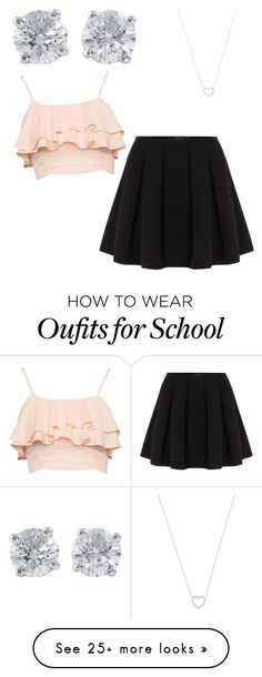 """a another school day"" by mel1004p on Polyvore featuring Tiffany & Co. and Polo Ralph Lauren"