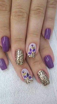Hot Nails, Hair And Nails, Crazy Nails, Autumn Nails, Flower Nail Art, Square Nails, Cool Nail Art, Manicure And Pedicure, Nail Arts
