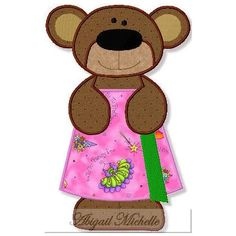 Bath Bear Applique - 3 Sizes!