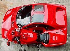 Ferrari car bike hybrid.  François Knorreck of France spent 10,000 hours over 10 years to build this