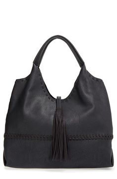 Big Buddha Tassel Faux Leather Hobo Bag available at #Nordstrom