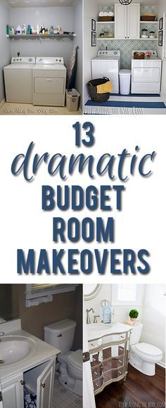 Inspiring before-and-after room reveals you can recreate on a budget! SO many…