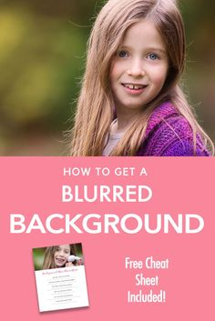 """Beginner Photography Tutorial - A step by step guide on how to blur out the background in your images! Learn how to pull focus to your subject in this guide for beginners. You can also get your hands on a free """"cheat sheet' so you can print out the steps to have it with you when shooting!"""