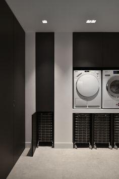Laundry Closet, Laundry Room Storage, Laundry Room Design, Küchen Design, House Design, Home Interior Design, Interior Decorating, Workspace Design, White Home Decor