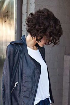 Big curls are also great on short hairs. It would give of a classic vintage look but would still go with almost any style of clothing.