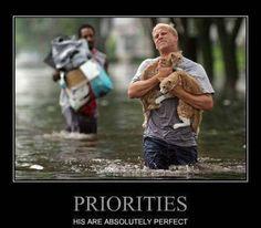 Priorities: He got it exactly right!