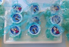 Snowflake Soap- glycerin soap favors, Frozen party favors, soap for kids, holiday, winter soap
