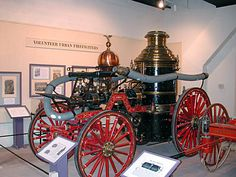 """Steam powered fire-fighting engines were a revolution in fire-fighting. Until their invention by the brilliant John Ericson (he designed the Union ironclad """"Monitor""""),c.1848 fire engines were hand drawn, hand pumped affairs with minimal capacity. The steam engine finally allowed a constant stream of high pressure water to be directed on a fire as long as a water source was available. The horse would soon replace men for moving the fire engine. Horse drawn engines were used in Boston til…"""