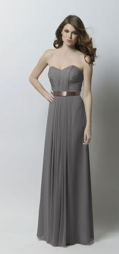 Love The Look Of Gray Bridesmaids Dresses With A Pop Color In Bouquet