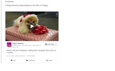 Virgin. Talk about a cool airline. This cute puppy video fetched ample engagement among fans.