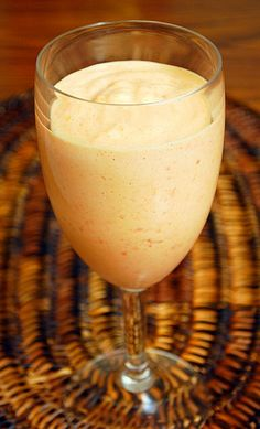 Papaya Cream Dessert.  Also try making a fun drink with papaya and sweetened condensed milk in the blender with a touch of rum.
