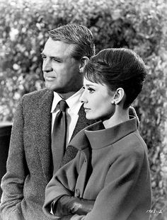 Two of the most lovely in the same photo?? Cary Grant & Audrey Hepburn in Charade