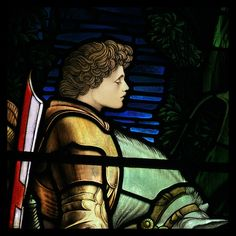 Ellen Terry as Sir Galahad, by G F Watts from a window at Freshwater, Isle of Wight  by Martin Beek, via Flickr